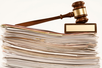 Gavel on a Stack of Documents