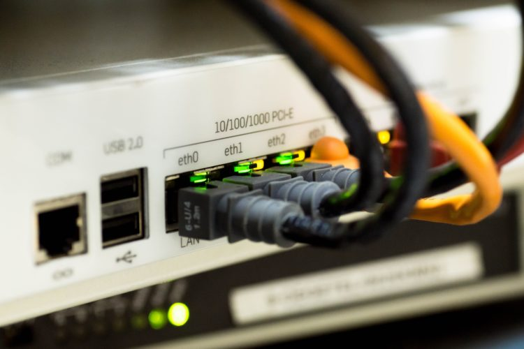Network Switch with Ethernet Cables